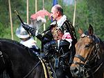 Hlavní postava slavností - Albrecht z Valdštejna. Foto Gothichell.